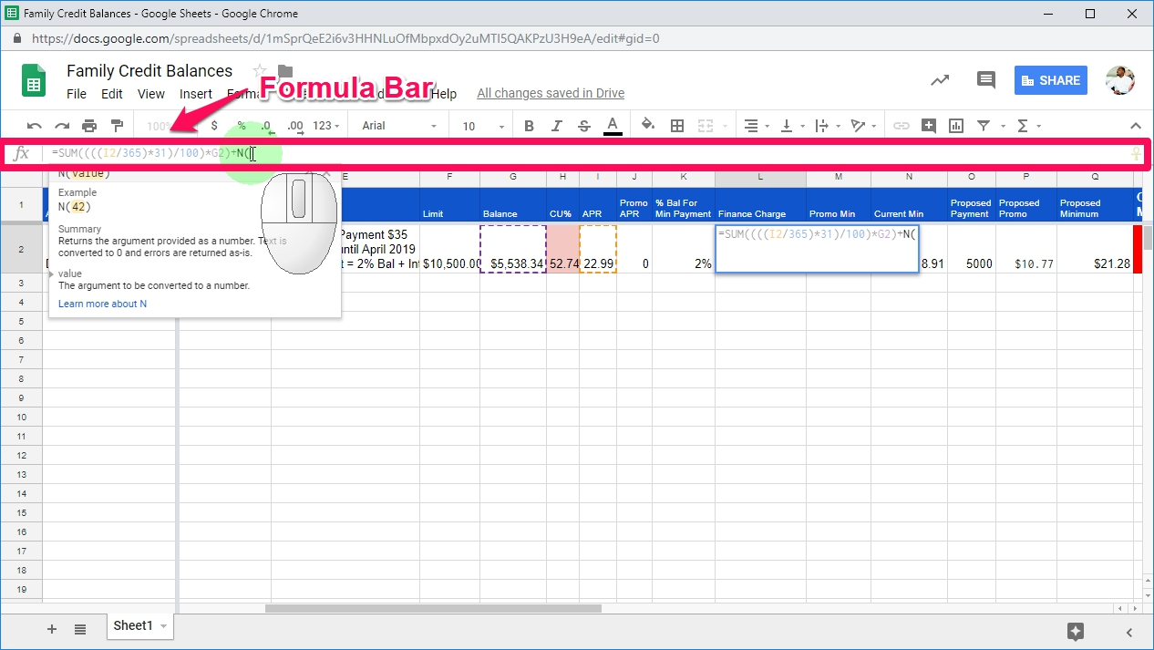 How To Add Comments To Spreadsheet Formulas